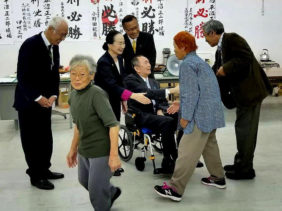"""平沼正二郎 в Twitter: """"平沼赳夫の美作市と、院庄での個人演説会に ..."""