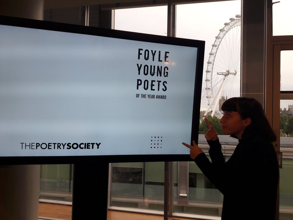 test Twitter Media - RT @chronicalien: Thank you so much to @PoetrySociety for yesterday's #FYP2017 award ceremony! https://t.co/aIncqHMINr