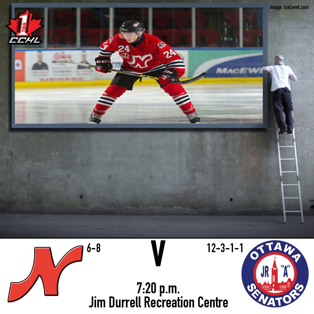 Spread the news, it&#39;s a Raiders&#39; game day!! We&#39;re at @OttawaJrSens tonight looking for our fourth win in a row, 7:20 start. #RN #CCHL<br>http://pic.twitter.com/QOLAjWeZcV