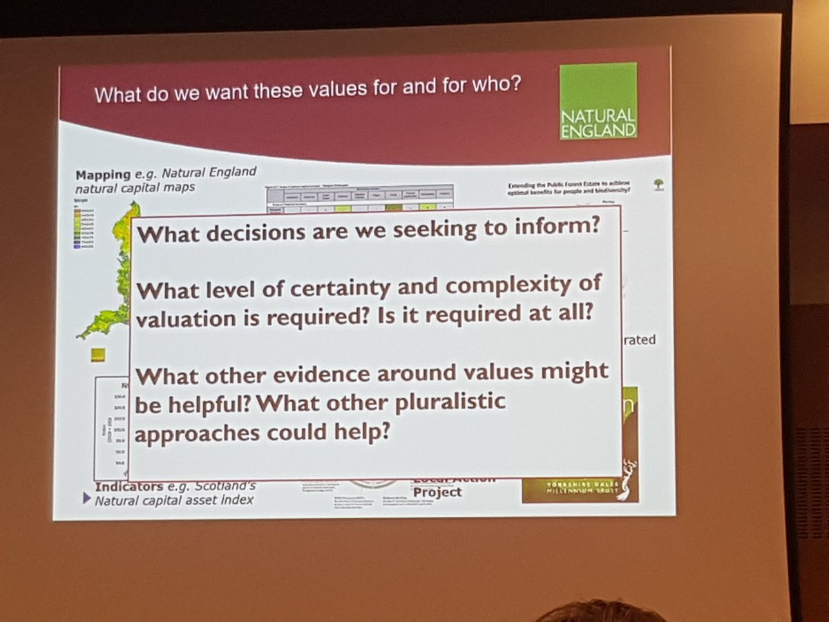 Useful questions when thinking about using #ecosystemservices and #values for #decisionmaking #ValNat17 @waters_ruth @NaturalEngland<br>http://pic.twitter.com/V0oVQ0oEiE