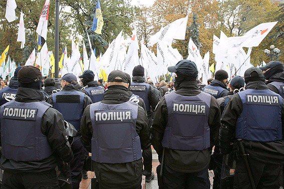 Внаслідок подій під Верховною Радою України до поліції доставлено 11 осіб