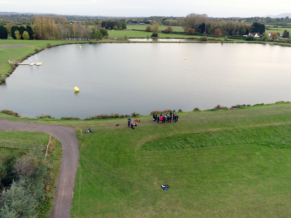 1st Year Students learning &amp; practicing surveying techniques at our Lakeside Campus @uwlakeside @GeographyUoW inc. aerial surveying #DJI <br>http://pic.twitter.com/T0UgUJ5Vyy