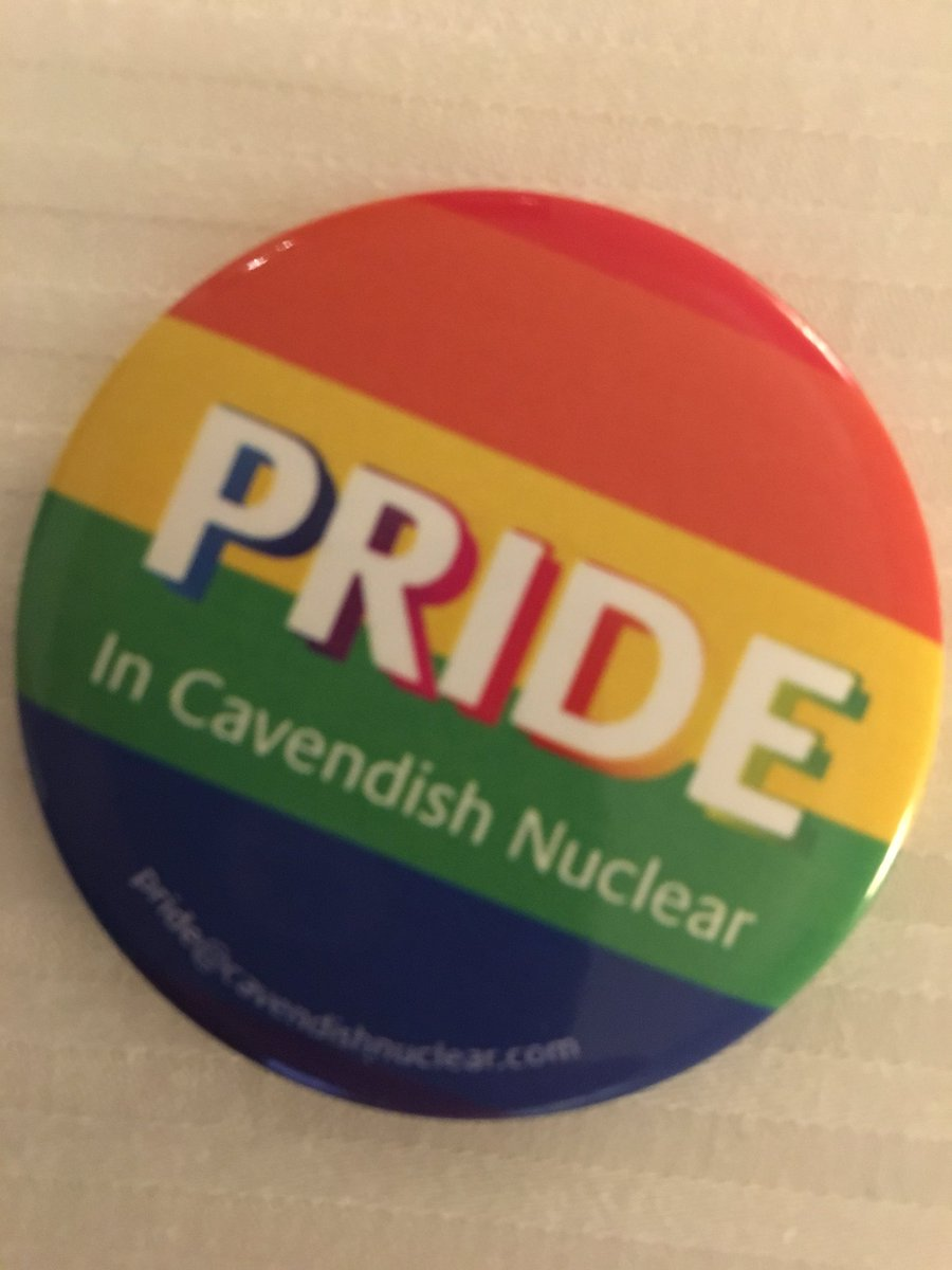 Just took the exec sponsorship role of PRIDE in #CavendishNuclear. Proud to be part of a forward looking company #Diveristy&amp;InclusionMatters <br>http://pic.twitter.com/IUue3tt1o0