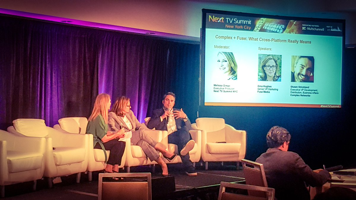 Great short panel on What Cross-Platform Really Means moderated by #NextTVSummit producer @melissagrego #Fuse #Complex #NYCTVWK<br>http://pic.twitter.com/cwlF2xfuQi &ndash; à Sheraton New York Times Square Hotel