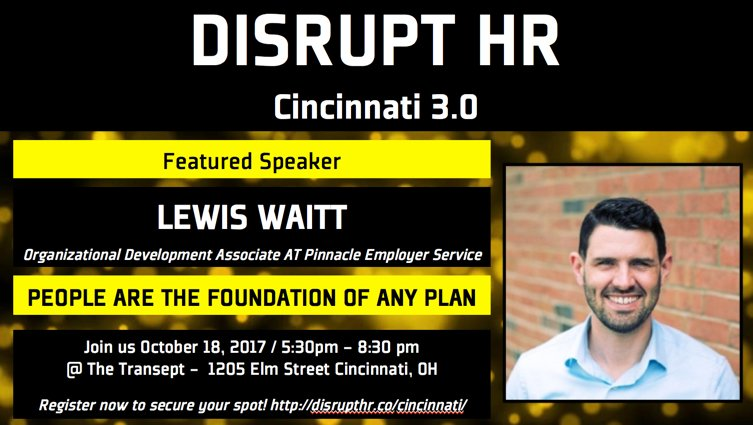 TODAY! Don&#39;t miss this unique event; a twist on HR.  @DisruptHR_Cincy @Disrupt_HR #DisruptHR #DisruptHRCincy #Cincinnati #HR #HumanResources <br>http://pic.twitter.com/dGQxkVa0Hy