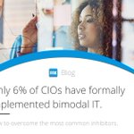 Looking to adopt a #bimodal approach? Learn our tips for organizations stuck in Mode 1: https://t.co/pYzwyzgGcY #digitaltransformation #CIO