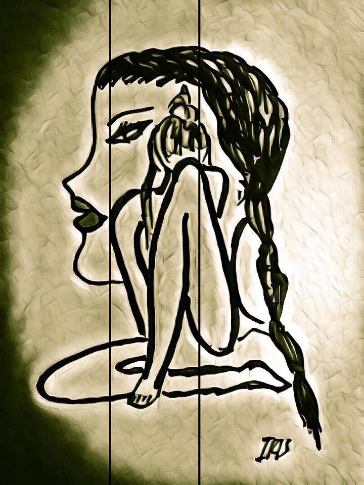 ©Overthinking Kills the Magic, painted by @IRISUNART  #irisunart #artist #art #artsy #watercolor #draw #drawing #creative #gallery <br>http://pic.twitter.com/P9Qd3zNofX