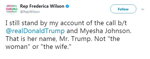 MORE: Rep. Wilson stands by her account of call between the president and the fallen soldier's widowhttps://t.co/smsnQdy5gy.
