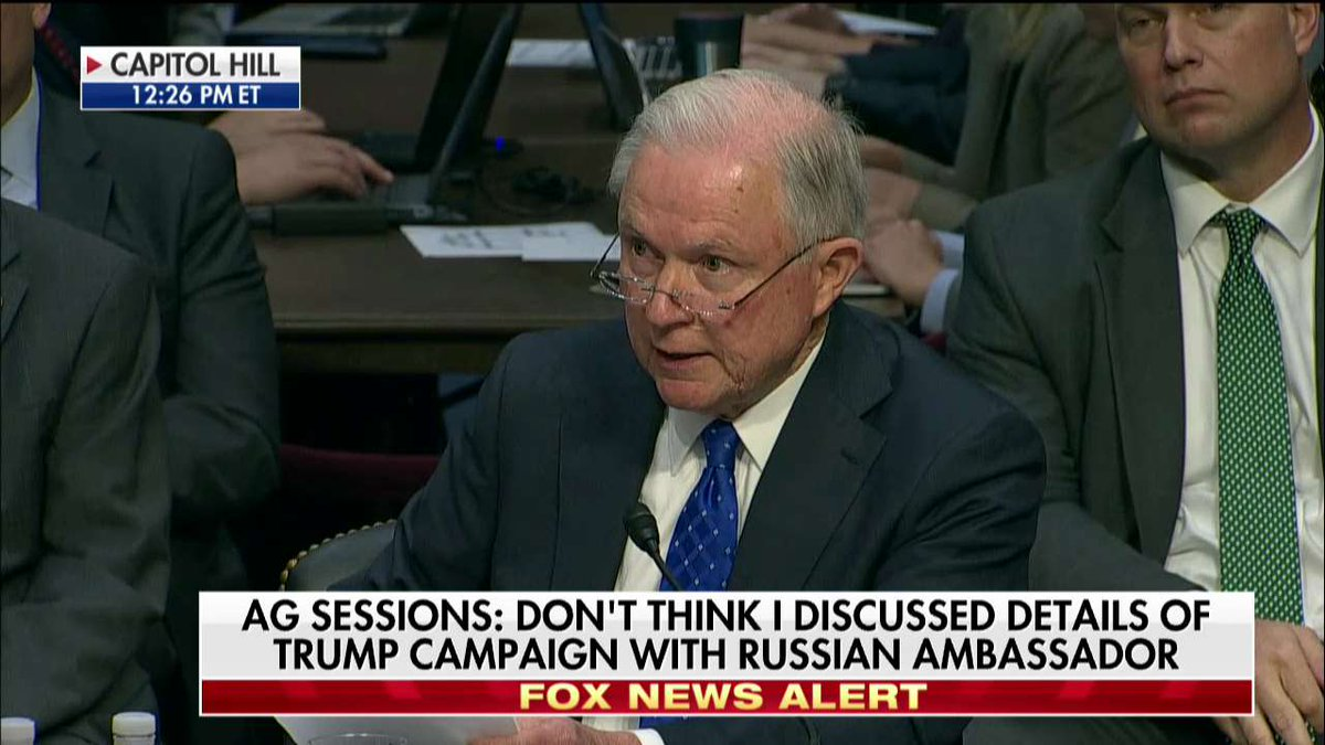 Sessions to @SenFranken: You take [my answer] & say if I ever met w/ a Russian, I've not been candid with the committee, and I reject that.