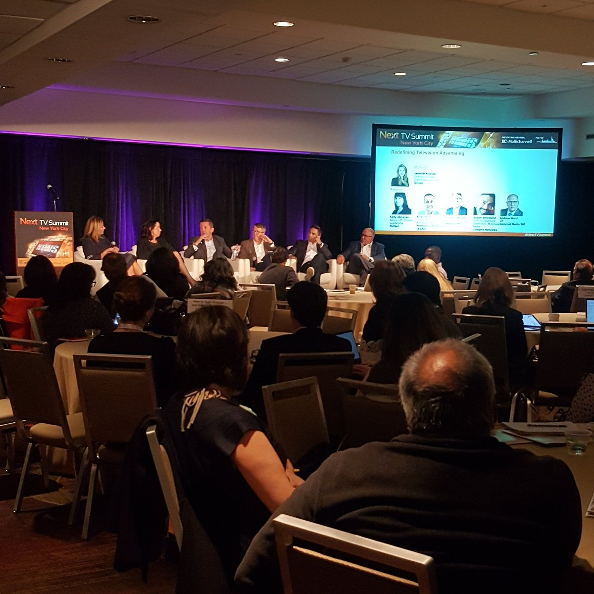 We&#39;re talking Redefining TV #Advertising at #NextTVSummit feat. #google #nielsen, #preemion, #mediaocean, #complex &amp; #comcastmedia360<br>http://pic.twitter.com/FYX5aIHNsv &ndash; à Sheraton New York Times Square Hotel