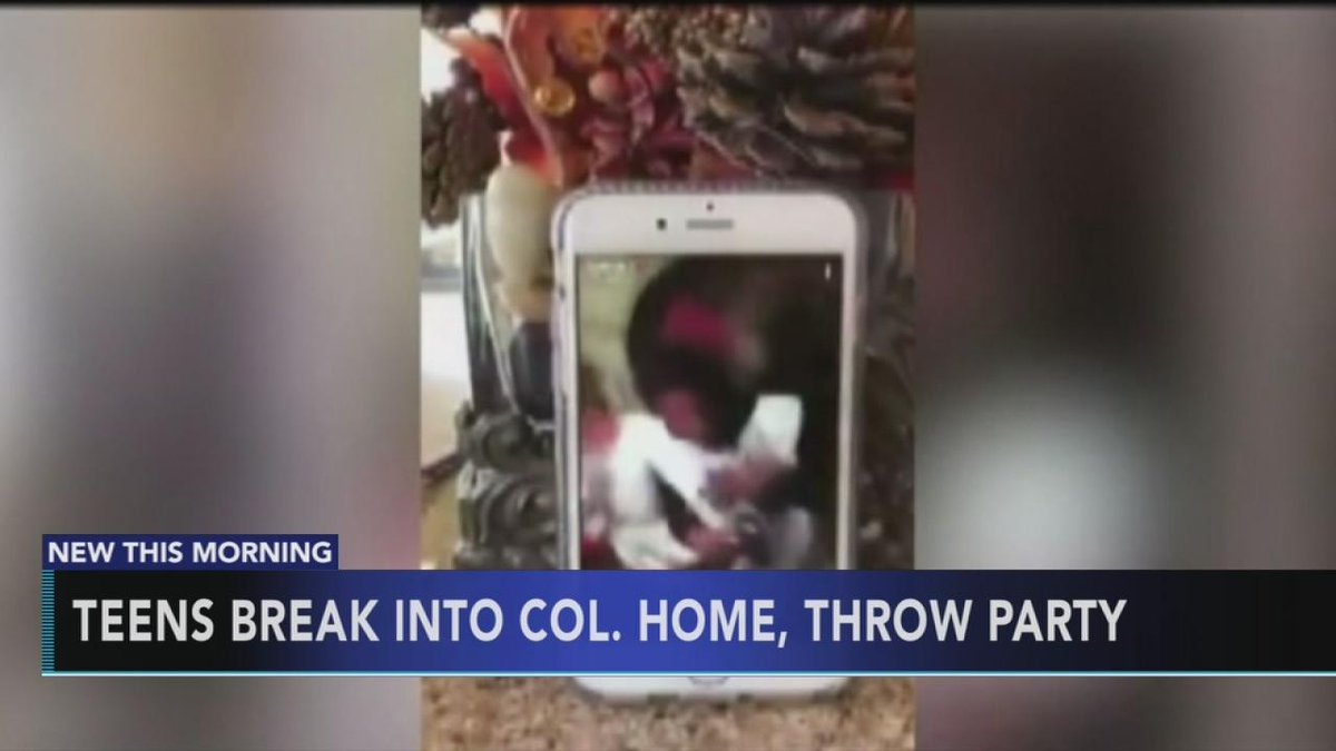 Teens break into home for party, record Snapchat video https://t.co/EkC6LhkPfd