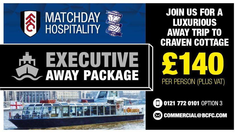 ⚓️ Join us for a unique away trip as we take on @FulhamFC at Craven Cottage.   Details 👉 https://t.co/VfyjKb9jzH #BCFC
