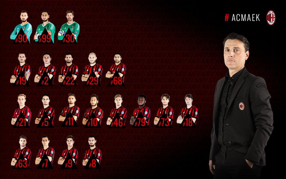 The 20-man squad that will take on AEK Athens in #UEL 👉🏻 https://t.co/zIvXfKshIZ I 20 convocati per #ACMAEK 👉🏻 https://t.co/XYWjtoOGK7