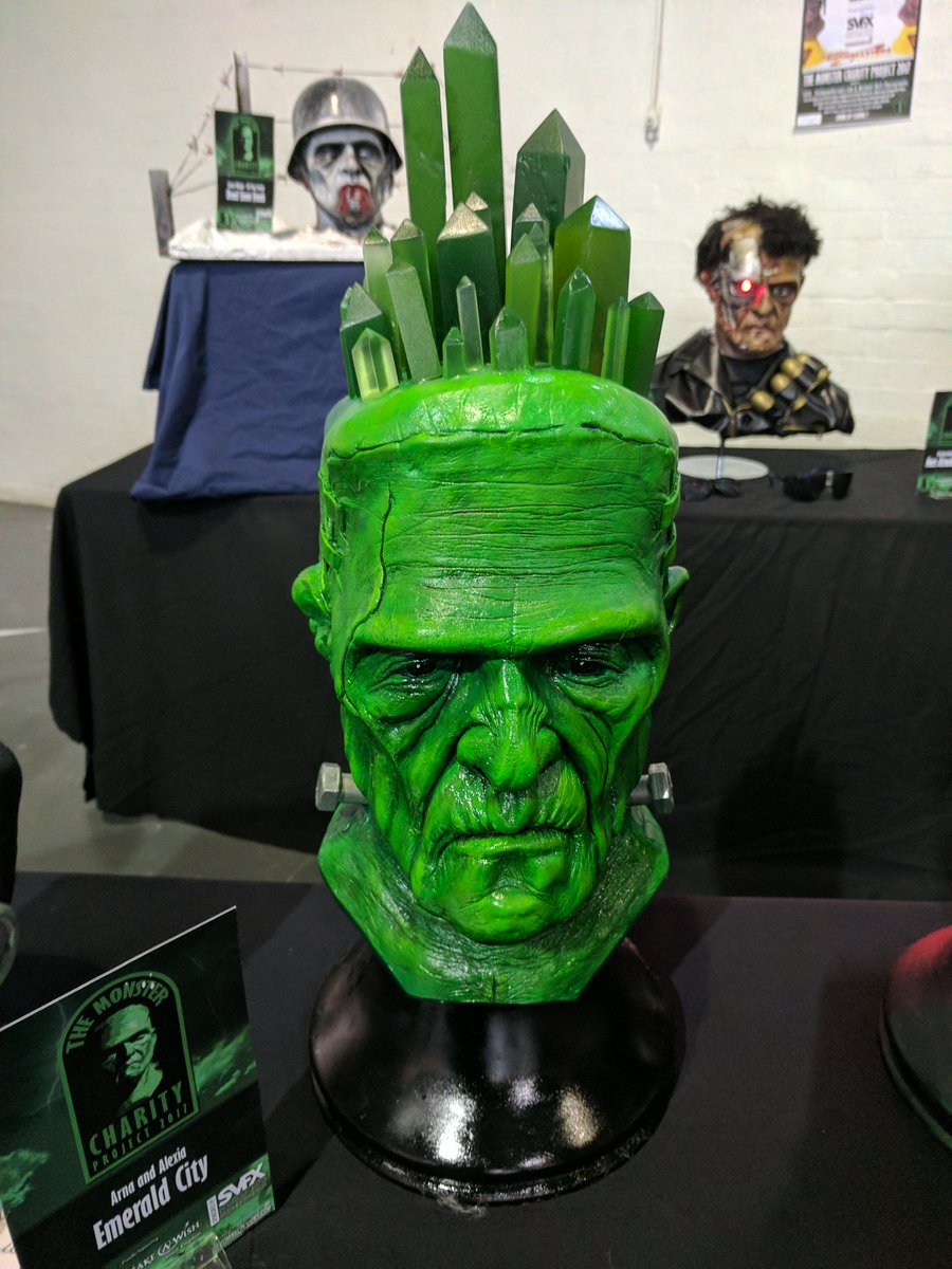 #Monster #Charity Project sent life sized #Frankenstein monster busts to UK's leading special effects artists:  http:// ihorror.com/frankenstein-s culptures-will-blow-away/ &nbsp; … <br>http://pic.twitter.com/m21XiU1SL4