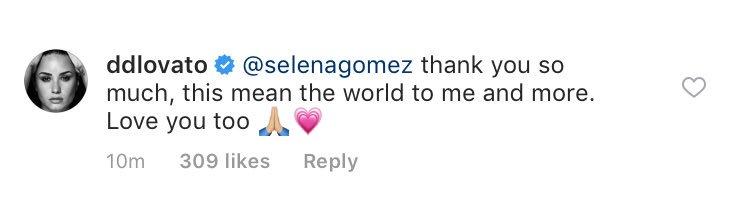 Demi replied to Selena Gomez's comments...