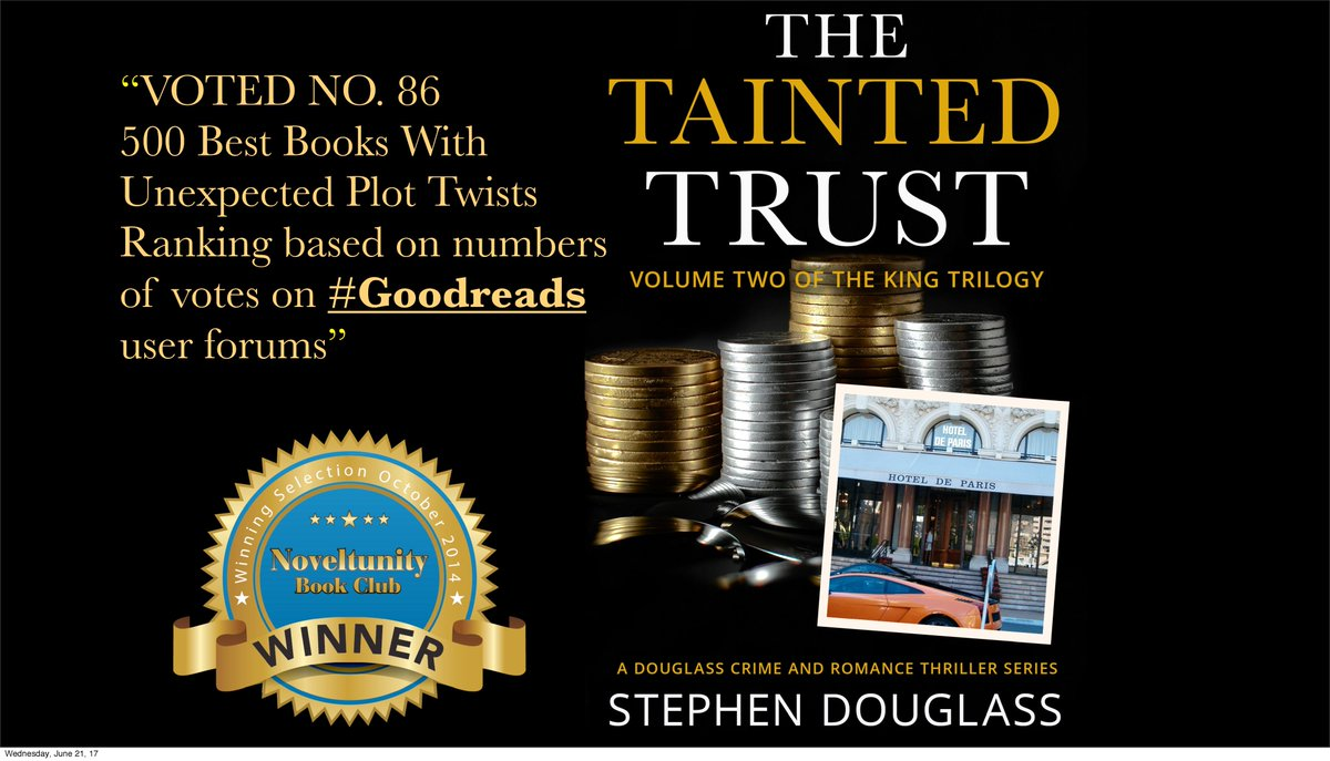 """""""A real thriller. An excellent take on #crudeoil trading.""""   http:// getBook.at/978-1-62660-01 8-8 &nbsp; …   #audiobook  http:// ow.ly/AfUqs  &nbsp;    #mustreads <br>http://pic.twitter.com/cpvWKKUQjv"""