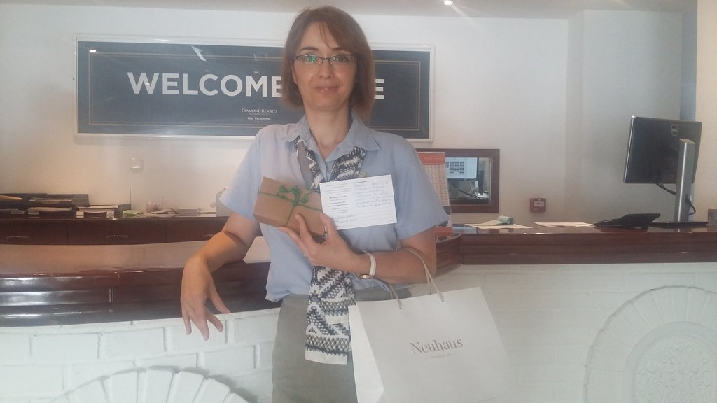 Happy guests make happy team members! Thank you Cristina! #YIC #Recognition #BelgianChocolate #SantaBarbara #DRIcareers @RamiroVelasco15<br>http://pic.twitter.com/Yej2TVgcqG