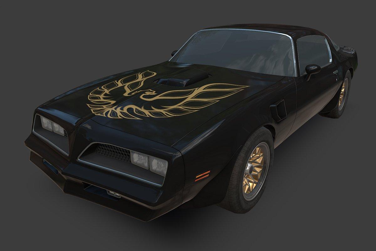 Pontiac Firebird on @CG_Trader  https://www. cgtrader.com/3d-models/car/ sport/pontiac-trans-am-1977#3d &nbsp; …  #lowpoly #gamedev #gameart #indiedev<br>http://pic.twitter.com/9b1BKKVdOU