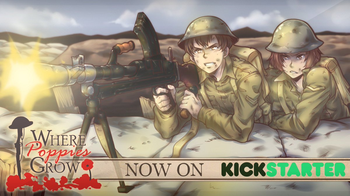 WE ARE LIVE! Thanks to everyone who made it possible and best of luck!  https://www. kickstarter.com/projects/26003 7966/where-poppies-grow &nbsp; …   #visualnovel #vndev #indiegame #indiedev<br>http://pic.twitter.com/gVyKVid847