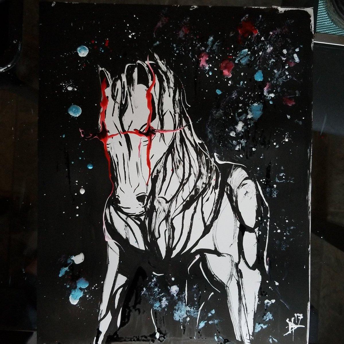 Star Horse 11x14 freehand brushed ink on Bristol paper #ink #inktober #inktober2017 #celestial #horse #starhorse #cosmic<br>http://pic.twitter.com/4JXzMrnThK