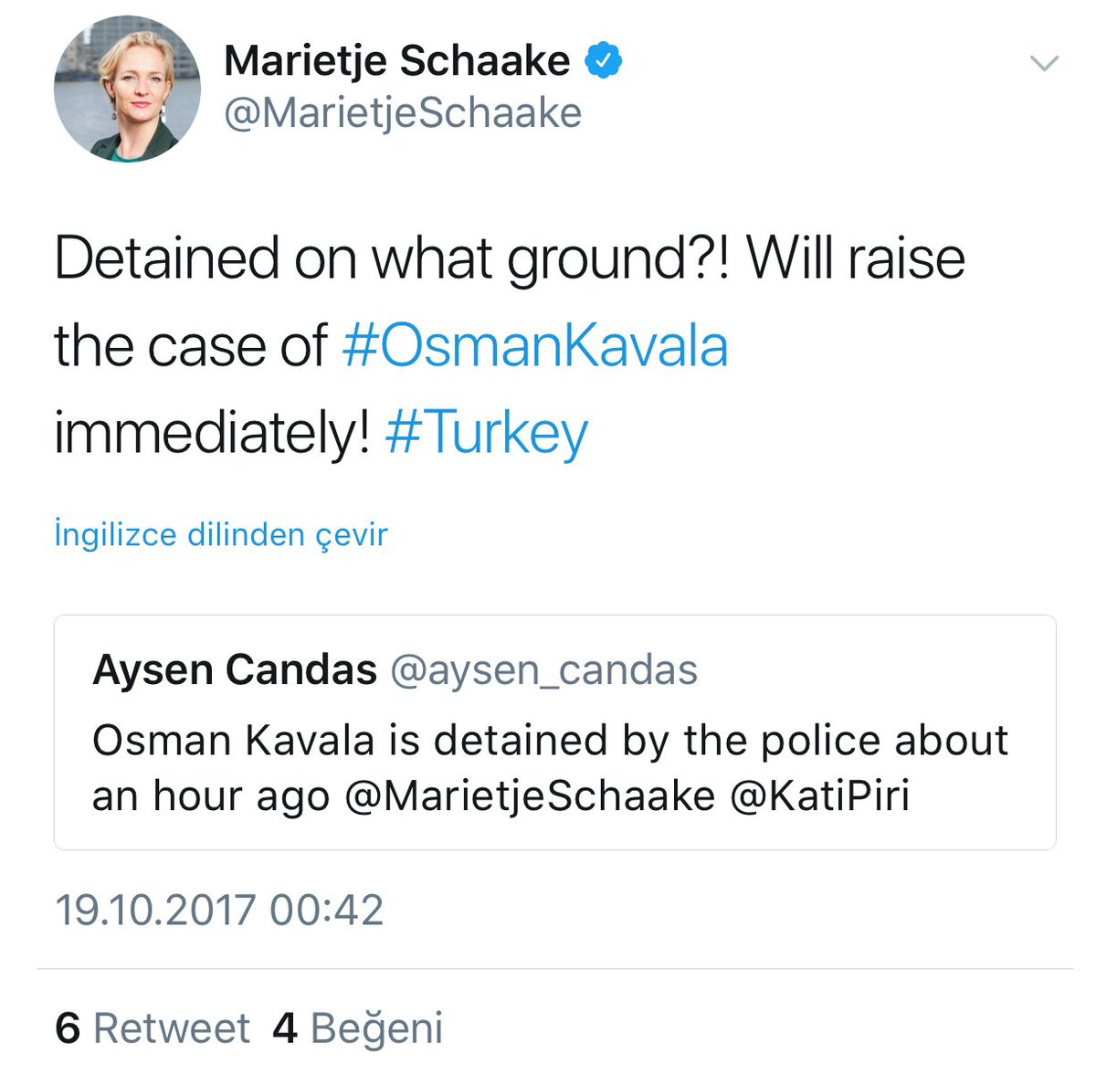 Anlaşıldı, Osman Kavala'da bu ülke vatan...