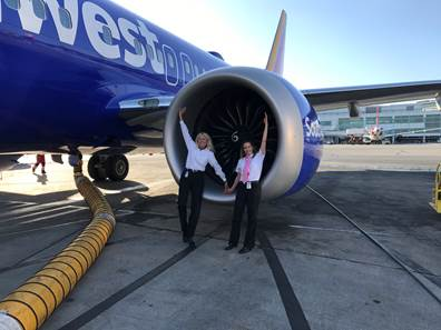 "Картинки по запросу The first ""unmanned"" Southwest flight on a @BoeingAirplanes"