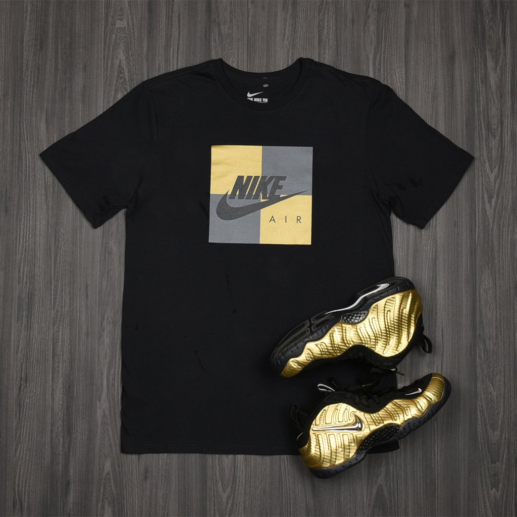 ef3c88e8797b6 ... sale pick up the metallic gold nike air foamposite pro box tee. in  stores now