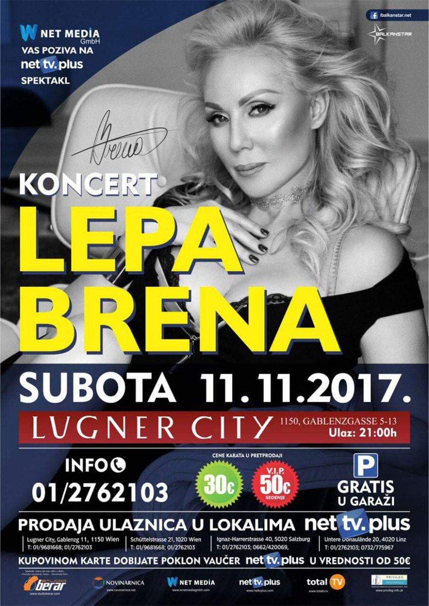 #LEPA #BRENA🌟#Live🎶 11.11.2017g #Lugner #City #BEC #Austrija... #Carica #Hdsv❤🌟❤ #Vidimo #se...