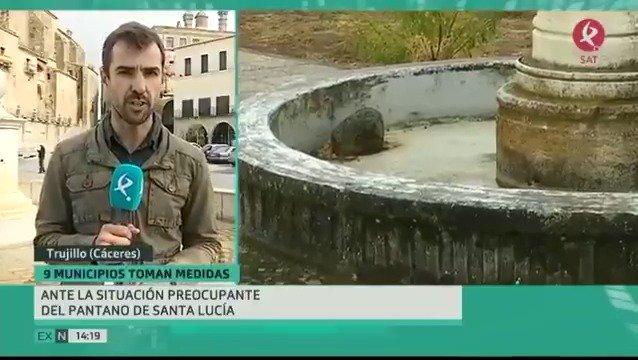 También en Trujillo y comarca preocupa la situación de los embalses. Empiezan las restricciones ante la escasez del pantano de Sª Lucía.#EXN https://t.co/uzkkYWfRG0