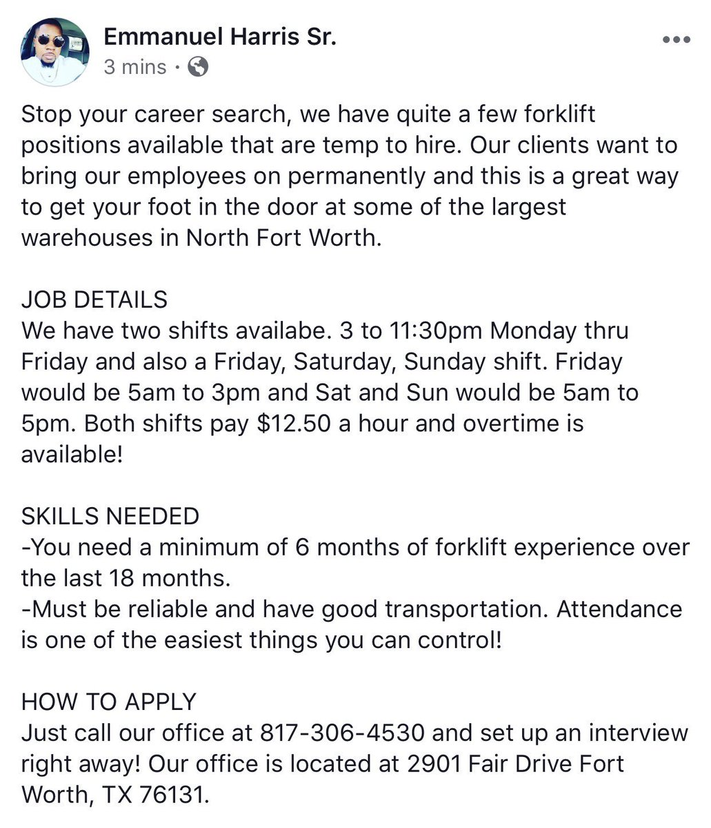 Ashley Genay On Twitter Another Job Posting In Fort Worth
