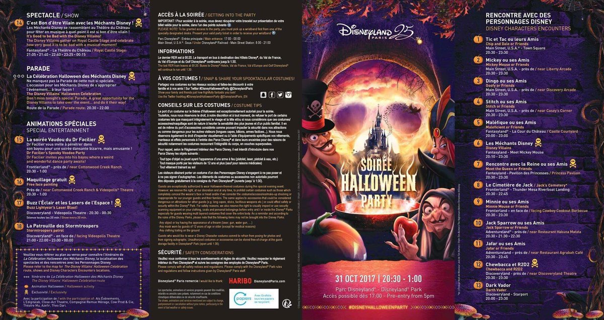 Disneyland Paris Halloween Party 2018.Ed92 On Twitter Official Program For The 2017 Halloween