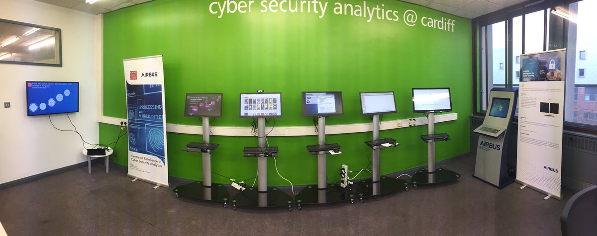Absolutely delighted to be launching the @Airbus Centre of Excellence in #CyberSecurity analytics  https://www. cardiff.ac.uk/news/view/9667 30-centre-fighting-cybercrime-opens-in-cardiff &nbsp; …  @innovatewales<br>http://pic.twitter.com/IOmH5Q1mE8