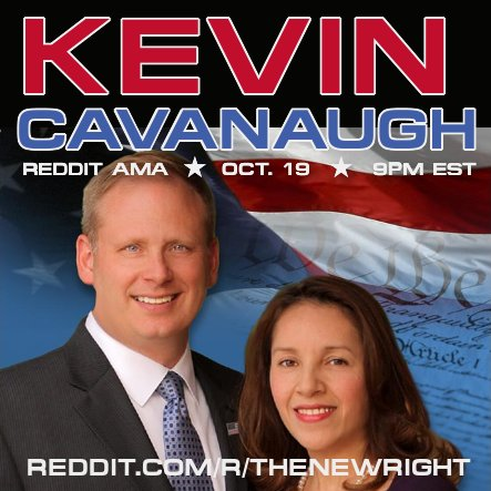 Kevin Cavanaugh AMA #Arizona #AZ01 US House cand. Join us tom Thurs Oct 19 7pmMT/9pmET Hosted by @NewRightNetwork &gt;&gt;  http:// smarturl.it/kevincavanaugh ama?IQid=twitter &nbsp; … <br>http://pic.twitter.com/L8Rz6DFBkz