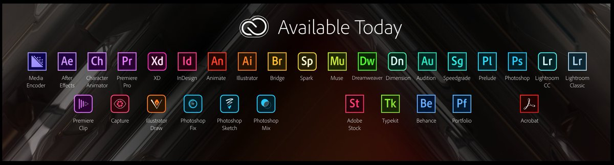 For those keeping track. This is everything that's available today. @adobe #AdobeMAX https://t.co/CxjczF04gk