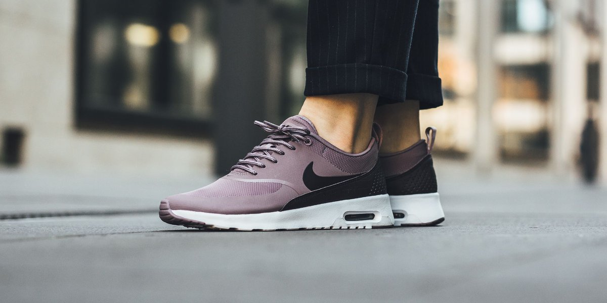 Nike Air Max Thea Women's Sneaker Taupe Gray Port Wine