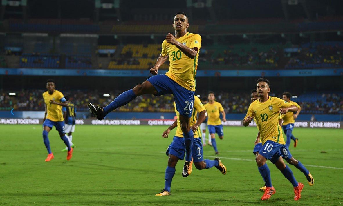 Brasil bate Honduras e encara Alemanha nas quartas de final do Mundial Sub-17, na Índia https://t.co/4icyE8MJo4