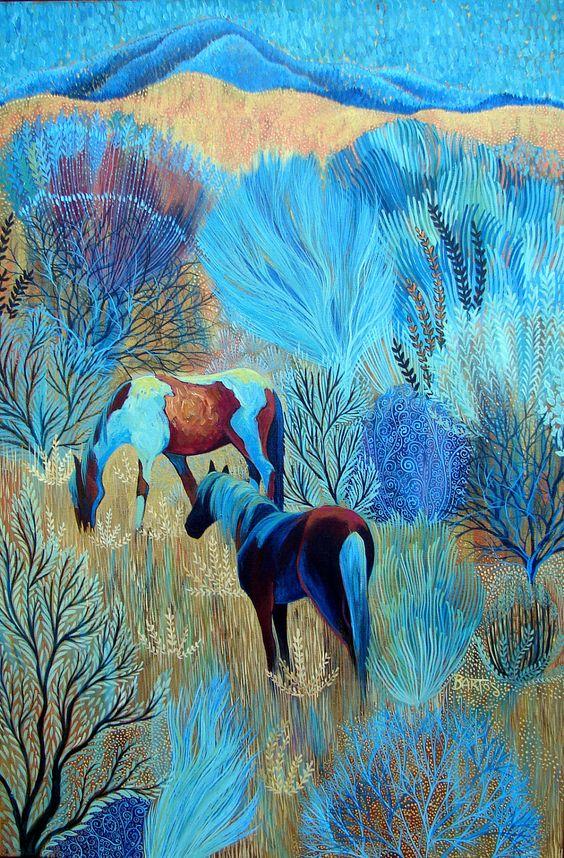 On Blue Mountain, 2016 Sally Bartos #painting <br>http://pic.twitter.com/NLasZMU9Ho