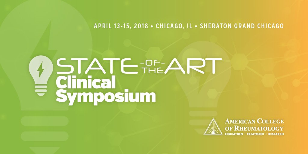 Join us for ACR&#39;s premier weekend symposium, the 2018 State-of-the-Art Clinical Symposium!   http:// acr.tw/18SOTA  &nbsp;   #rheumedu <br>http://pic.twitter.com/lzG6540VSk