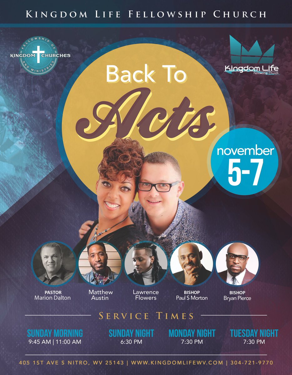 You don&#39;t want to miss these incredible days of ministry, our 2nd Annual Back to Acts Conf. #klfcistheplacetobe #loveGodlovePeople #greater <br>http://pic.twitter.com/nfL6q6hrwh