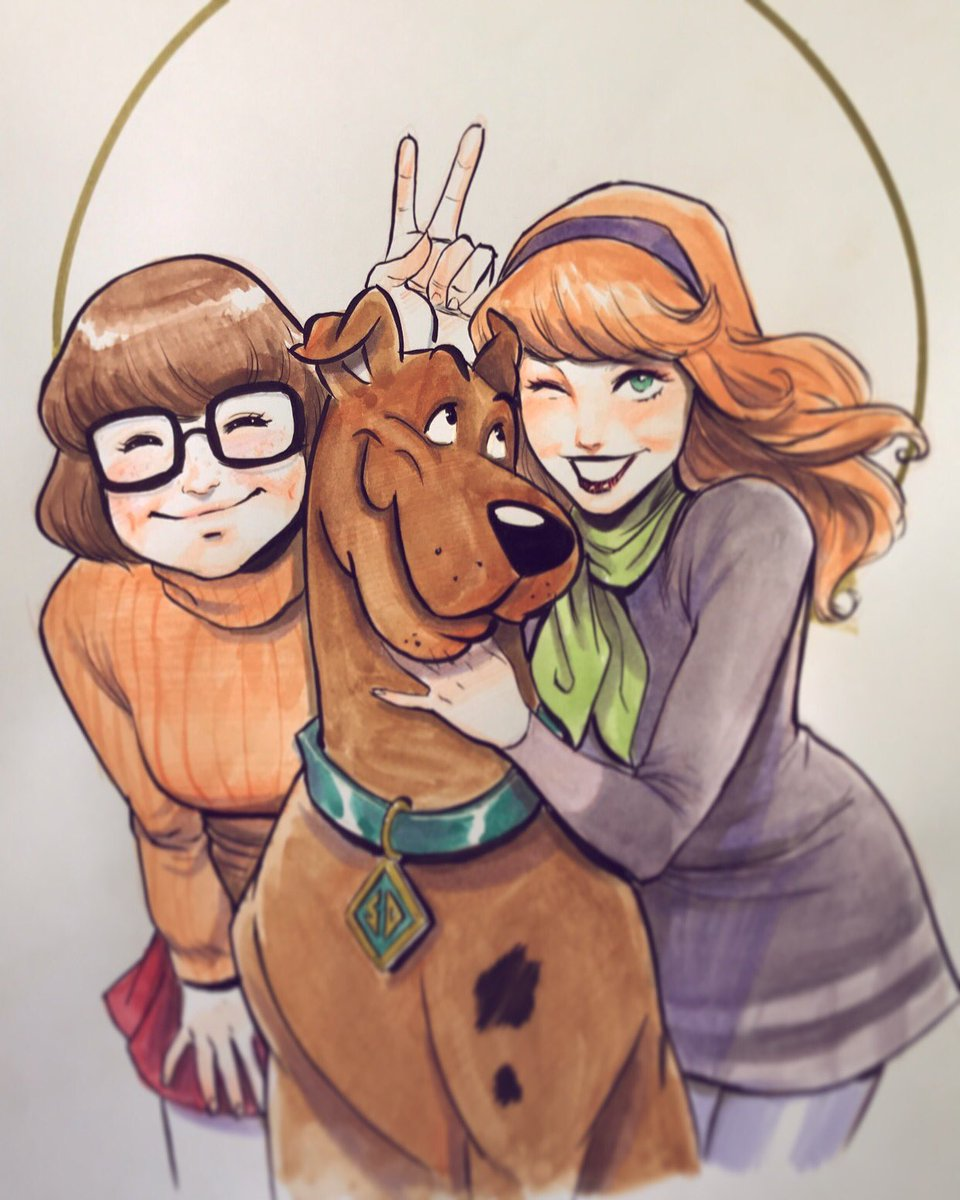 Scooby and the Girls #inktober #inktober2017 #ink #sketch #sketchbook #scoobydoo #Daphne #Velma #makers #copicmarkers #copic<br>http://pic.twitter.com/rhJy0zBzig