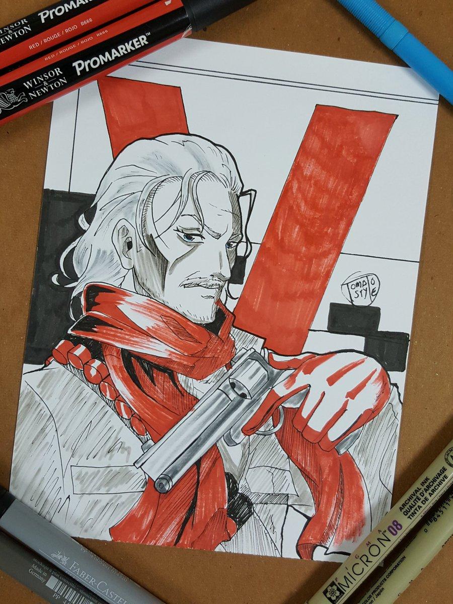 So far his my favourite character. 😃 291/365 day challenge #Inktober #inktober2017 #RevolverOcelot #LiquidOcelot #MGSVTPP #fanart