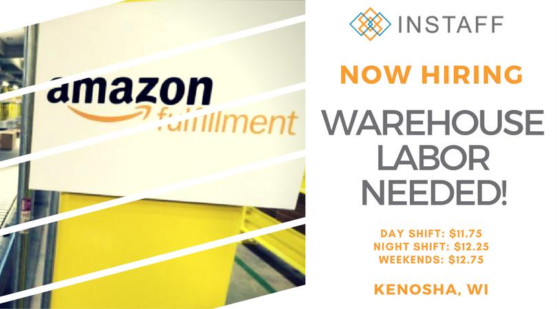 Now #Hiring for the Kenosha Amazon Fulfillment Center! Good pay plus benefits! Apply Now:  http:// bit.ly/2xkEbQp  &nbsp;  <br>http://pic.twitter.com/1JJvJRif7J