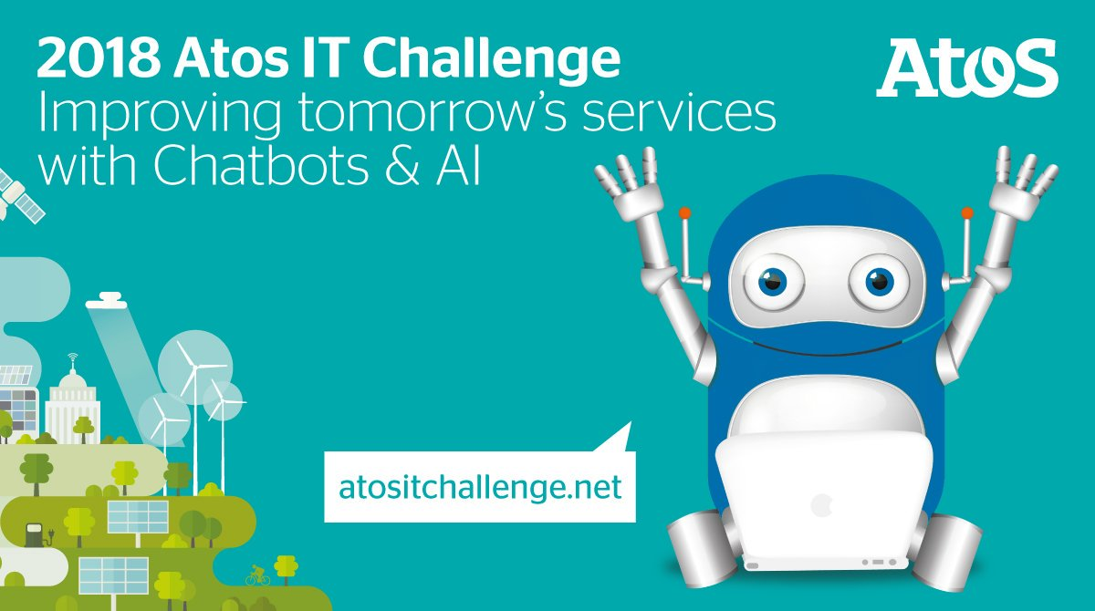 Join #AtosITChallenge - a #studentcompetition dedicated to #technologicalinnovation @AtosITChallenge Theme #Chatbots &amp; #AI | #studentpreneur<br>http://pic.twitter.com/TPjwEpvN4U