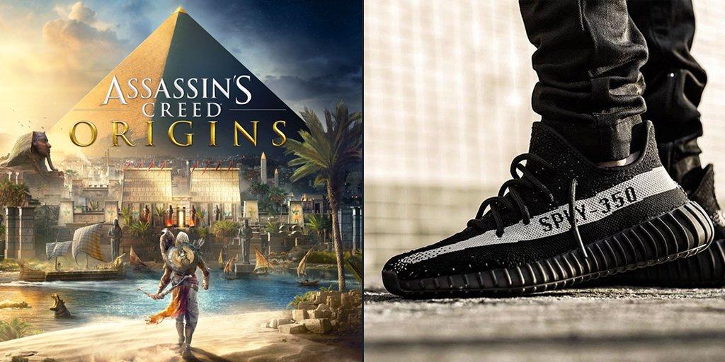 best sneakers c2b14 2f85b ... custom-made Assassin s Creed  Origins Yeezys. View -  https   www.dexerto.com news custom-assassins-creed-origins-yeezys-revealed-ubisoft-gaming 37173  …