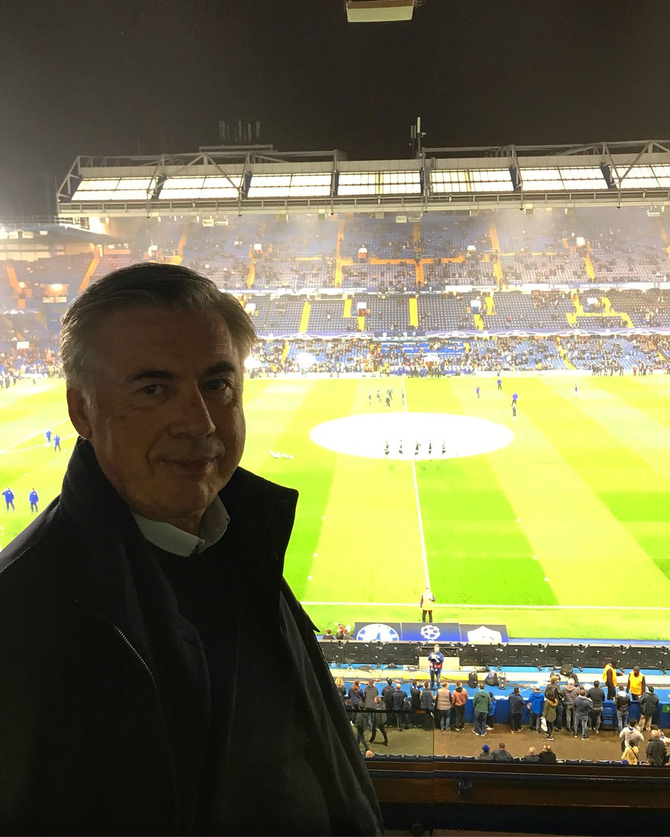 It&#39;s a pleasure to return to Stamford Bridge to enjoy a great Champions match #ucl #cfc #chelsea #asroma<br>http://pic.twitter.com/YtW3ut4Xiz