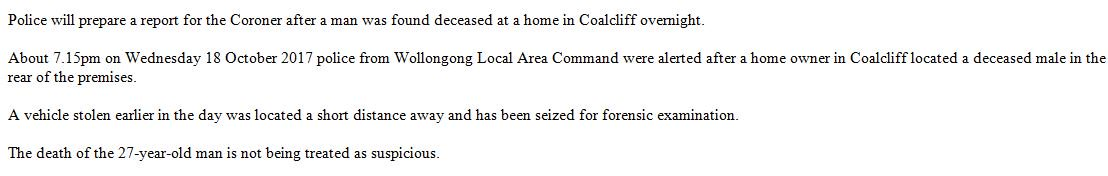 Police will prepare a report for the Coroner after a man was found deceased at a home in Coalcliff overnight. #9News