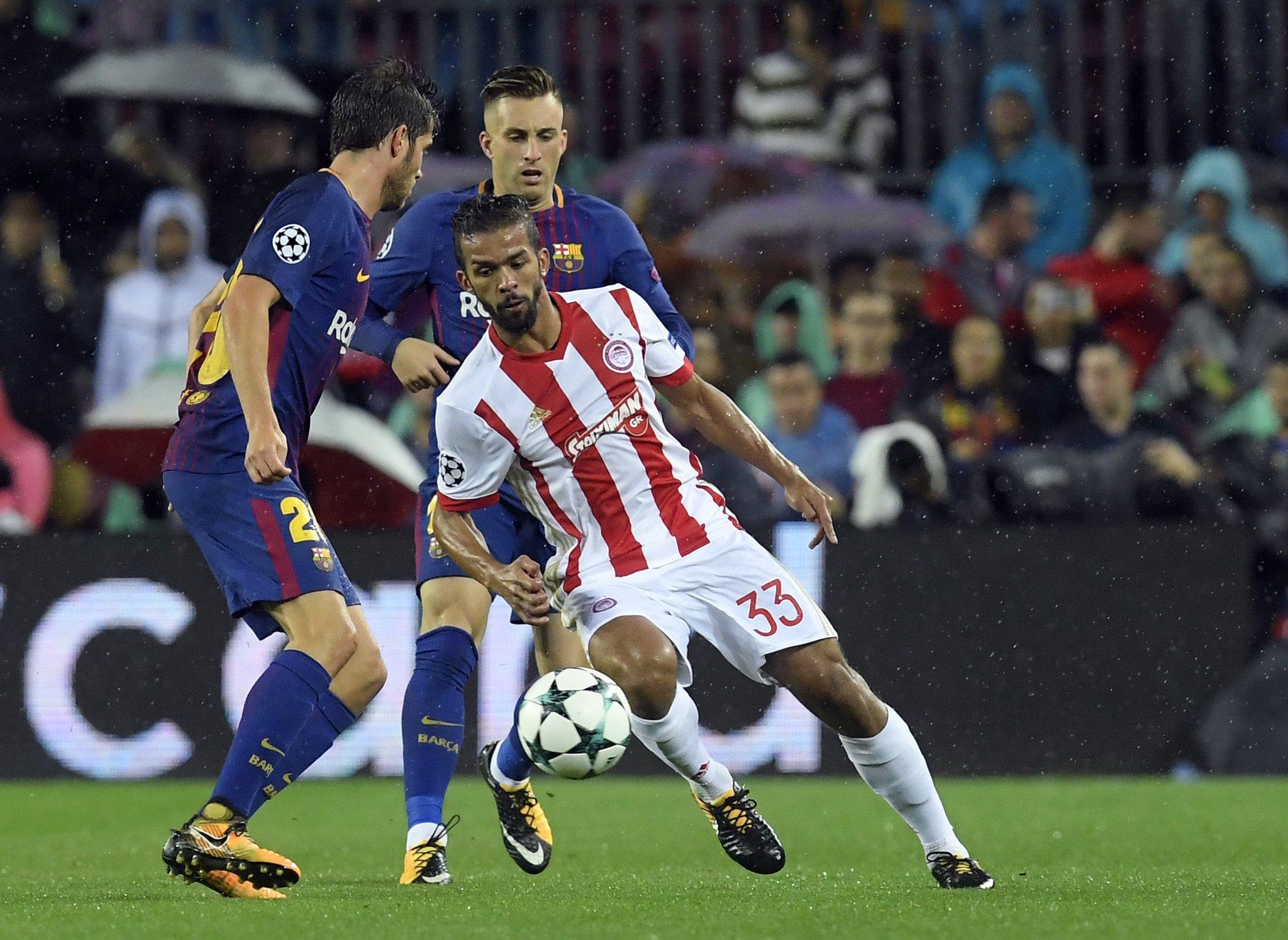 هدف برشلونة الأول في مرمى أولمبياكوس
