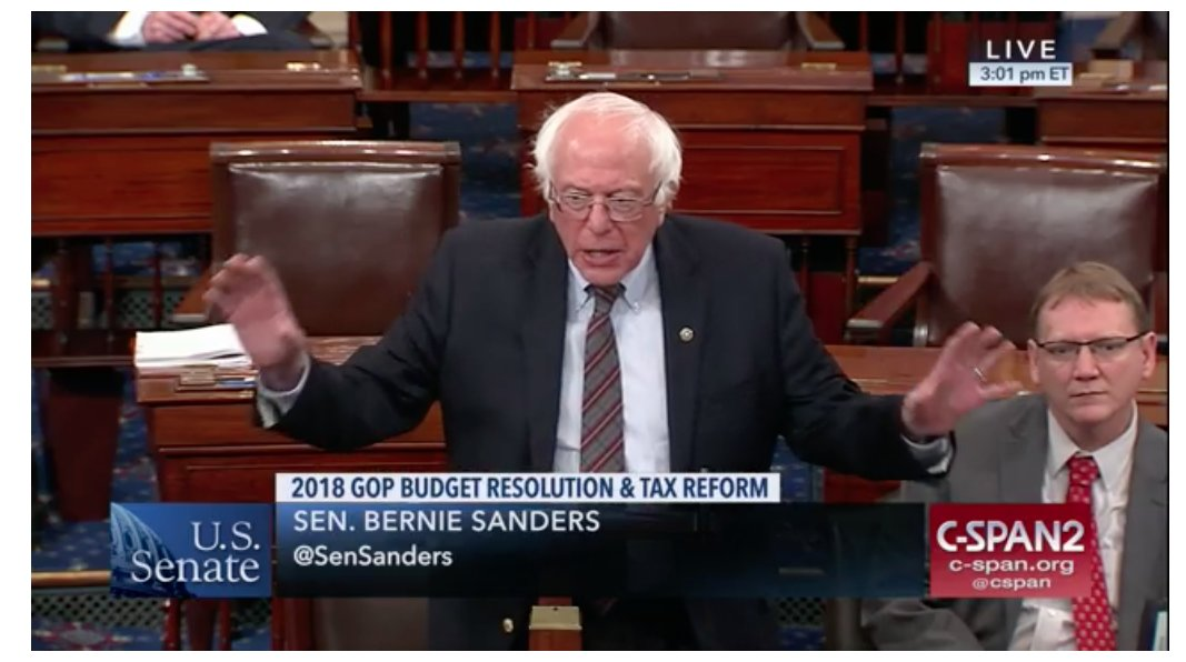 &quot;Let us give no tax breaks to billionaires while we cut #Medicaid.&quot;  - Senator Bernie Sanders, just now.  Budget debate:   https://www. c-span.org/video/?435939- 1/us-senate-considers-gop-budget-resolution&amp;live &nbsp; … <br>http://pic.twitter.com/qW4RKdKsdS