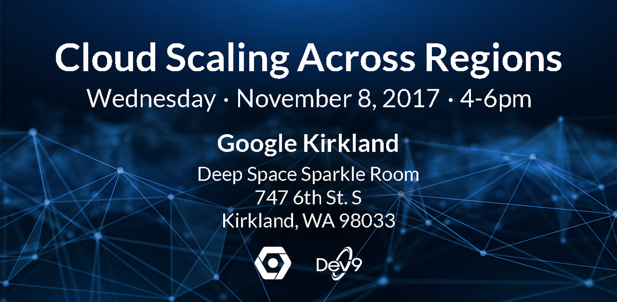 On 11/7, join Dev9 &amp; @googlecloud for a seminar on multi-region #cloud #scaling. Led by @mikeensor. Register now -  http:// bit.ly/2zkc0lW  &nbsp;  <br>http://pic.twitter.com/3fSohgxzaw