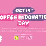 TOMORROW @BlenzCoffee is hosting their annual 'Coffee By Donation Day', donating 100% of funds to the Canadian Cancer Society. #BLENZCCS